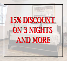 15% discount on 3 nights and more